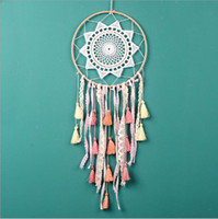 Creative Gradient Color Tassels Lace Dreamcatcher Wind Chime...
