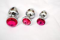 3 Größen Small + Medium + Big Edelstahl Anal Plug Set Anales Metall Jeweled Butt Plug Juguetes Anal Sexspielzeug Für Paare Y18110106
