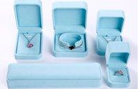 Anel de veludo pregos colares caixas de jóias pingente de colar de caixas de boa qualidade nova embalagem de jóias caixa azul 449