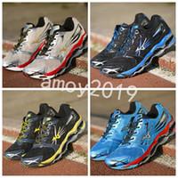 c7f15544a27 Chegam novas Autêntico MIZUNO WAVE PROPHECY 2 Homens Designer de Esporte  Tênis de Corrida Sneakers Mizunos