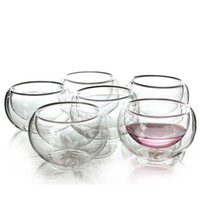 Melhor Calor 6 Pieces / lot Duplo parede de vidro do copo de chá Duplo Bule Café Tea Set Puer Chaleira com Filtro Durable Set Promoção Tea