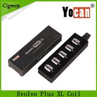 YOCAN EVOLVE PLUS Plus XL Wax Quad Coil Quad Quatz Asta Bobine con cappuccio a bobina per Evolve Plus XL Pen Kit