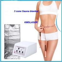 3 영역 적외선 림프 배수 슬리밍 사우나 담요 체중 감량 해독 기계