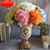 Artificiale Ortensia Capolino 45cm falso seta singolo tocco reale Ortensie 7 colori per la sposa decorativo Fiori OOA5138