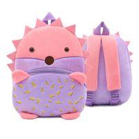 Милый мультфильм Ежик детские школьные сумки животных 3D стежка плюшевые рюкзак для детского сада малыша дети мальчики девочки подарки школьный