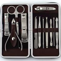12 قطع مانيكير مجموعة باديكير مقص الملقط سكين الأذن اختيار أداة مسمار المقص كيت ، الفولاذ الصلب مسمار أداة العناية مجموعة جديدة