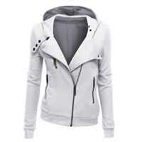 Fashion Hooded Jacket Long Sleeve Women Sweatshirts Zip Pull...