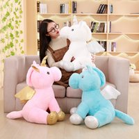 Plush Unicorn Toy Stuffed Unicorn Soft Doll Flying Horse wit...