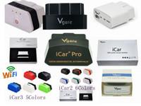 Oryginalny VGate ELM327 ICAR ICAR2 ICAR3 IV Pro OBD2 OBDII WIFI IOS Android Torque Pełny protokół Najlepsza jakość Darmowy DHL