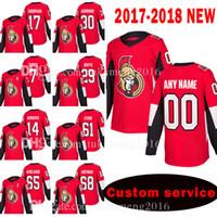 Ottawa Senators personalizado homens New 17 Nate Thompson 30 Andrew Hammond Jersey 7 Kyle Turris 29 Johnny Oduya 14 Alexandre Burrows Jerseys