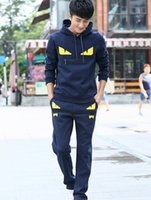 Mens Suits Pattern Letter Print Zipper Sport Tracksuit Women...