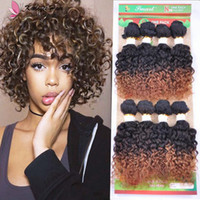 8pcs lot human hair bundles loose wave jerry curly hair weav...