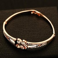 2016 New Korean Popular Charm Bracelets Luxury Full Crystal ...