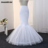 Amandabridal Mermaid Petticoat 1 Hoop Bone elastico abito da sposa Crinoline 2020 Petticoat nuziale Mermaid Cheap