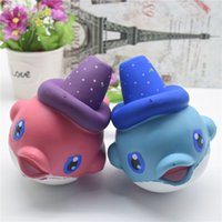 New Jumbo 16CM Squishy Kawaii Cute Pink Blue Big Whale Slow ...