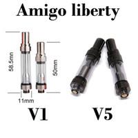AMIGO Liberty V1 V5 V9 Estratto di olio Vaporizzatore penna 1ml .5ml senza perdita di vetro serbatoio Serbatoio ceramico Co2 cartucce di vape PK Th205 AC1003