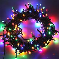 LED d'extérieur Lampe solaire de lumières LED 100/200 Fée de vacances Fête de Noël Garland solaire de jardin de 10 m imperméable, Soutien Drop Shipping
