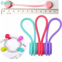 Gorący Wielofunkcyjny Magnes Silikonowe Słuchawki Słuchawki Winder Uchwyt Kabel USB Pasek Organizator magnetyczny Zbierz klipy Kolorowe