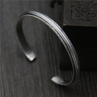 handmade Thai retro bracelet 925 sterling silver feather nat...