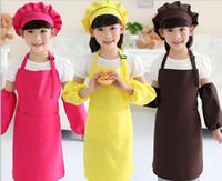Kinder Schürzen Taschen Craft Kochen Backen Kunst Malerei Kinder Küche Essen Lätzchen Kinder Schürzen Kinderschürzen 10 Farben geben Verschiffen TO677