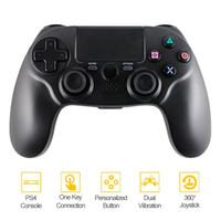controlador PS4 controlador sem fio Bluetooth Gamepad sem fio para jogos de vídeo PS4 PlayStation 4 (PS4) varejo cor preta