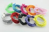 Multicolore opzionale nuovo 2 metri in tessuto lungo in nylon intrecciato mini cavo USB Consegna gratuita! Cavo tessuto tessuto di Samsung BlackBerry HTC