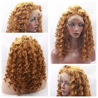 Free Shipping Sexy Light Brown 27# Long Kinky Curly Syntheti...