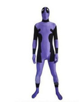 Deadpool-Rouge Noir Rouge Spandex Deadpool Costume Halloween Cosplay Fête Zentai Deadpool Costume