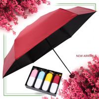 Yaratıcı Mini Kapsül Şemsiye Cep UV Koruma Yağmur katlanır kompakt Şemsiye Hafif Taşınabilir Erkek Kadın Şemsiye