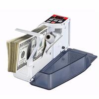 Compteur d'argent de poche Portable Mini Handy Money Compteur de billets de banque Comptant d'argent Machine AC100-240V Équipement financier