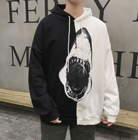 2018 autumn new men' s hooded sweater street fashion sha...
