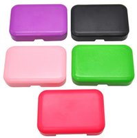 Plastic Tobacco Box case ( 110mm*75mm) Cigarette Smoking Accessories Storage with 78MM Paper Holder Tin Portable Pocket Size 5 colors