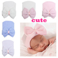 Maternity Newborn hat Baby girl beanies Bow Caps Infants thi...