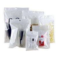 Impermeabile Bianco Plastica Poly Poly OPP Imballaggio Zipper Blocco Zipper Retail Packages Monili alimento PVC Plastic Candy Retail Valve Valvola di imballaggio
