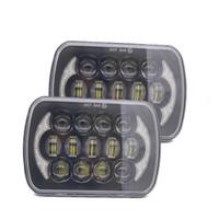 5''x7 '' 6''x7 '' Fascio Fari a LED ad alta bassi per il Jeep Wrangler YJ Cherokee XJ H6054 H5054 H6054LL 69822 6052 6053 Angel Eye