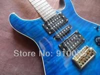 Miglior prezzo strumento musicale in edizione limitata personalizzata 24 Ltd. Blue acero Tiger Top chitarra elettrica spedizione gratuita