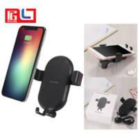 T8 For iphone X Gravity Car Mount Qi Fast Wireless Charger P...