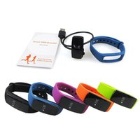 Smart Watch ID107 Bluetooth 4.0 Bracciale intelligente con cardiofrequenzimetro Fitness Tracker Sport da polso per Android IOS 7.1 Phone