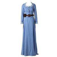 أصليّ Westworld Dolores Abernath تأثيري زي أنبوب أعلى ثوب تنورة
