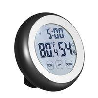 Livraison Gratuite Thermomètre Numérique Hygromètre Température Humidité Compteur Alarme Station Horloge Touche Touche Centigrade / Fahrenheit Degrés