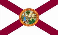 Florida State Schaltfläche Flag, 90 * 150cm, 100% Polyester, Banner, Digitaldruck