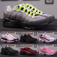 2018 Wholesale fashion Men Air Cushion 95 Running Shoes Auth...