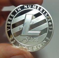 Silver Plated LTC Coin Commemorative Physical Litecoin Colle...