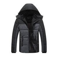 Giacca invernale di marca calda per uomo Cappotti con cappuccio Casual Cappotto da uomo spesso Cappotto da uomo slim casual in cotone imbottito casual caldo