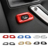 Auto Central Locking Switch Decorazione Cover di alta qualità Nuovi accessori interni per Jeep Wrangler Compass 2010-2017