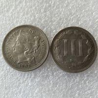 США 1883 три цента никель монета копия монеты украшения дома аксессуары
