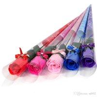 Künstliche Seife Rose Bad Körper Blütenblatt kreative Valentinstag Geschenk Hochzeit Dekorationen Simulation gefälschte Blume Seifen viele Farbe 1jm ZZ