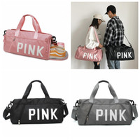 Pink Letter Beach Shoulder Bags 3 Colors Travel Duffel Handb...