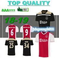 6d9f48780 Ajax home soccer Jersey 18 19 maillot de foot Amsterdam ZIYECH DOLBERG  HUNTELAAR TADIC 2019 ajax away football shirts camisetas de futbol