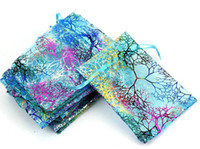 100 Pcs lot Blue Coral Fashion Organza Jewelry Gift Pouch Ba...